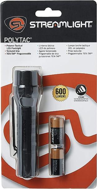 Streamlight Noir polytac X Tactique Avec Batterie USB Rechargeable Lampe De Poche 88610