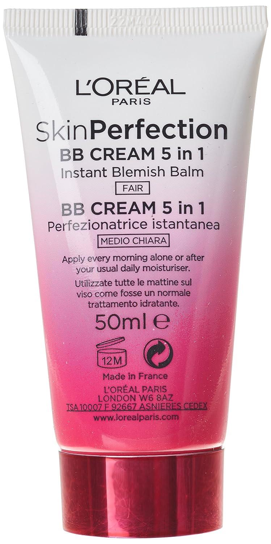 Loreal Paris Skin Perfection Bb Cream Fair Spf25 50ml Amazoncouk