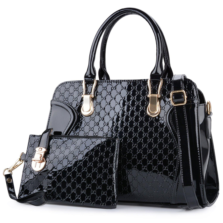 3a7f37b64 COOFIT Bolsos Mujer, Bolsos Bolsos de Mano Moda Bolso Bandolera Mujer Negro  Bolsa de Hombro