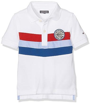 Tommy Hilfiger Colorblock Polo S/s, Niñas, Blanco (Classic White ...