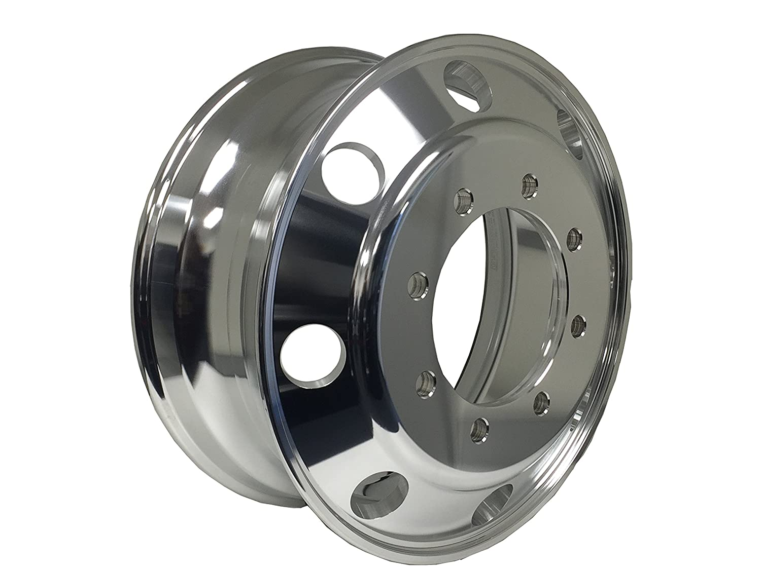 MOTORHOME A227506 Aluminum Wheels 22.5 x 7.5 Hub Pilot PCD:8X275 ALCOA STYLE Both side Polish Finished-for All Position
