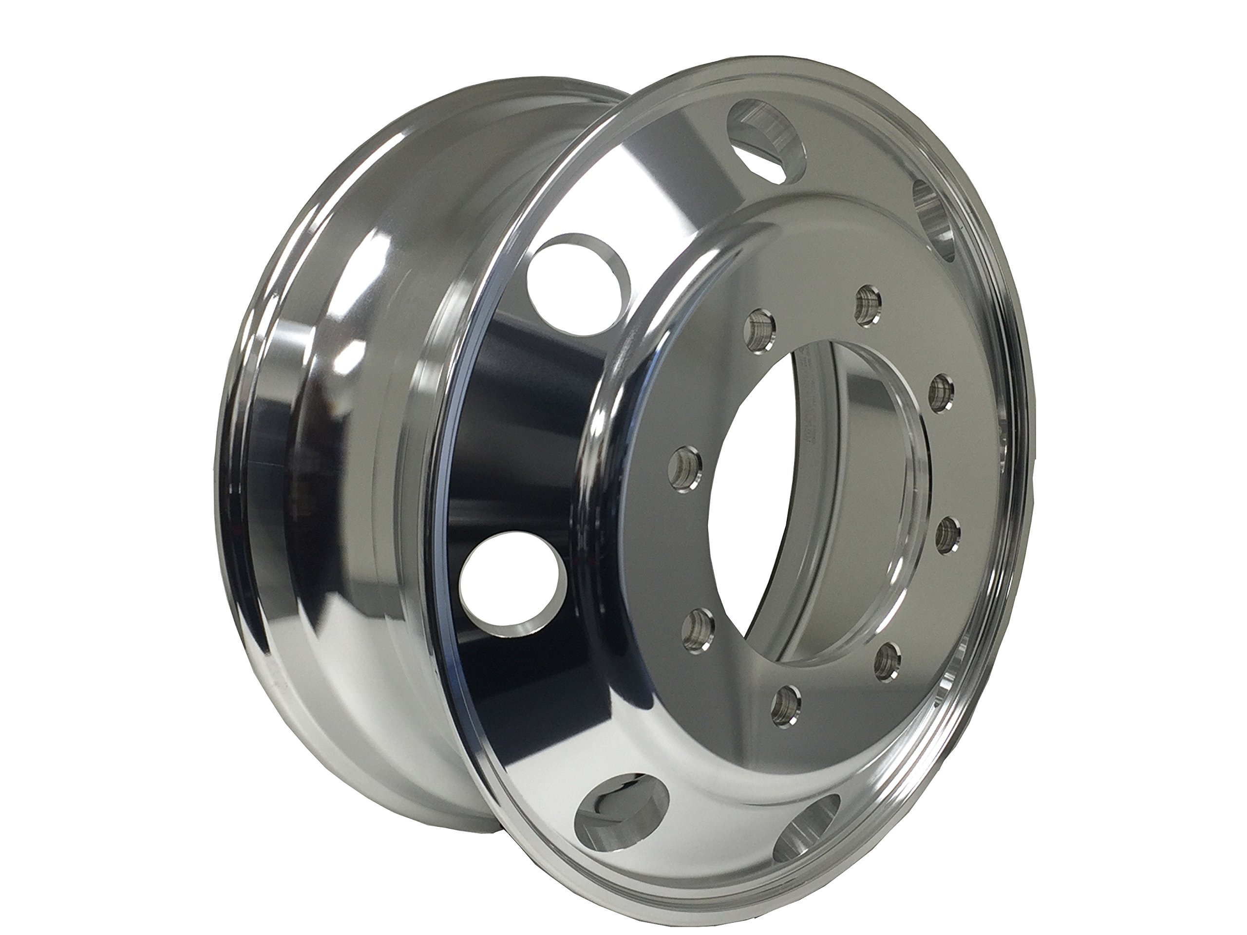 MOTORHOME A227506 Aluminum Wheels 22.5 x 7.5 Hub Pilot PCD:8X275 ''ALCOA STYLE'' (Both side Polish Finished-for All Position)