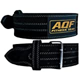 AQF Weight Lifting Nubuck Leather Power Belt Back Support Strap Gym Training Dip, Small, Medium, Large, XLarge, XXL