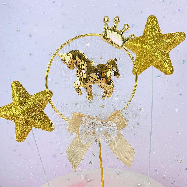 PMWLKJ Cake Insert Metal Decoración de Anillo de Hierro Forjado Net Kylin Wind Birthday Cake Plug-in Niños Decoración de Fiesta Favorita