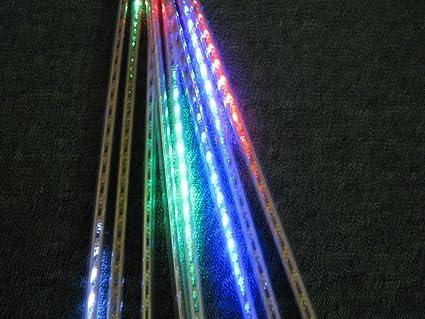 Weihnachtsbeleuchtung Eiszapfen Lauflicht.Led Lichterkette Eiszapfen Röhre Mit Schneefall Efekt Farbe Bunt
