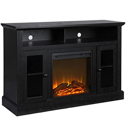Amazoncom Ameriwood Home Chicago Fireplace Tv Stand For Tvs Up To