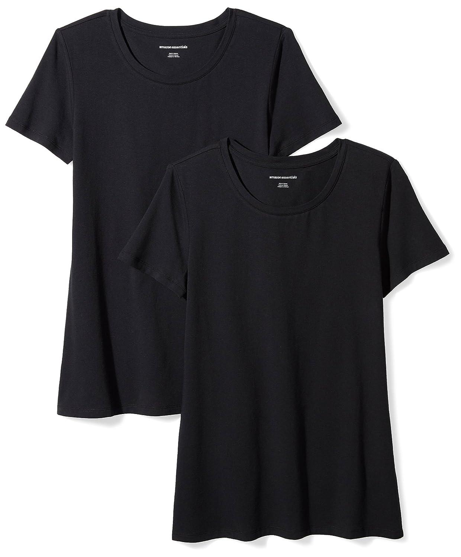 d2c1cc75f0 Amazon Essentials Women's 2-Pack Classic-Fit Short-Sleeve Crewneck T-Shirt