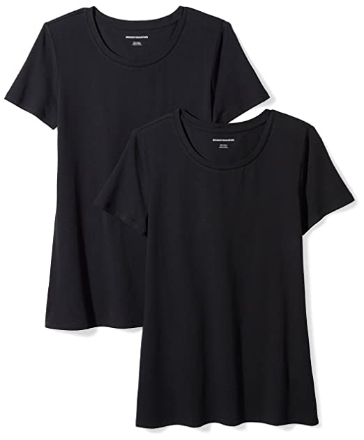 687c14e6 Amazon Essentials Women's 2-Pack Classic-Fit Short-Sleeve Crewneck T-Shirt