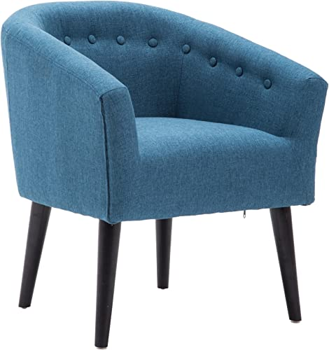 LSSBOUGHT Stylish Upholstered Button Tufted Fabric Living Room Accent Chair