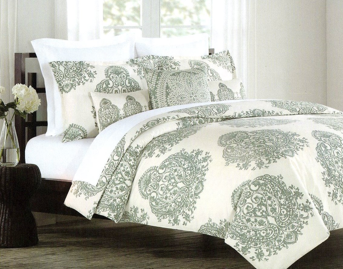 Amazon.com: Tahari Chinoiserie Chic Print Bedding China Paisley ...