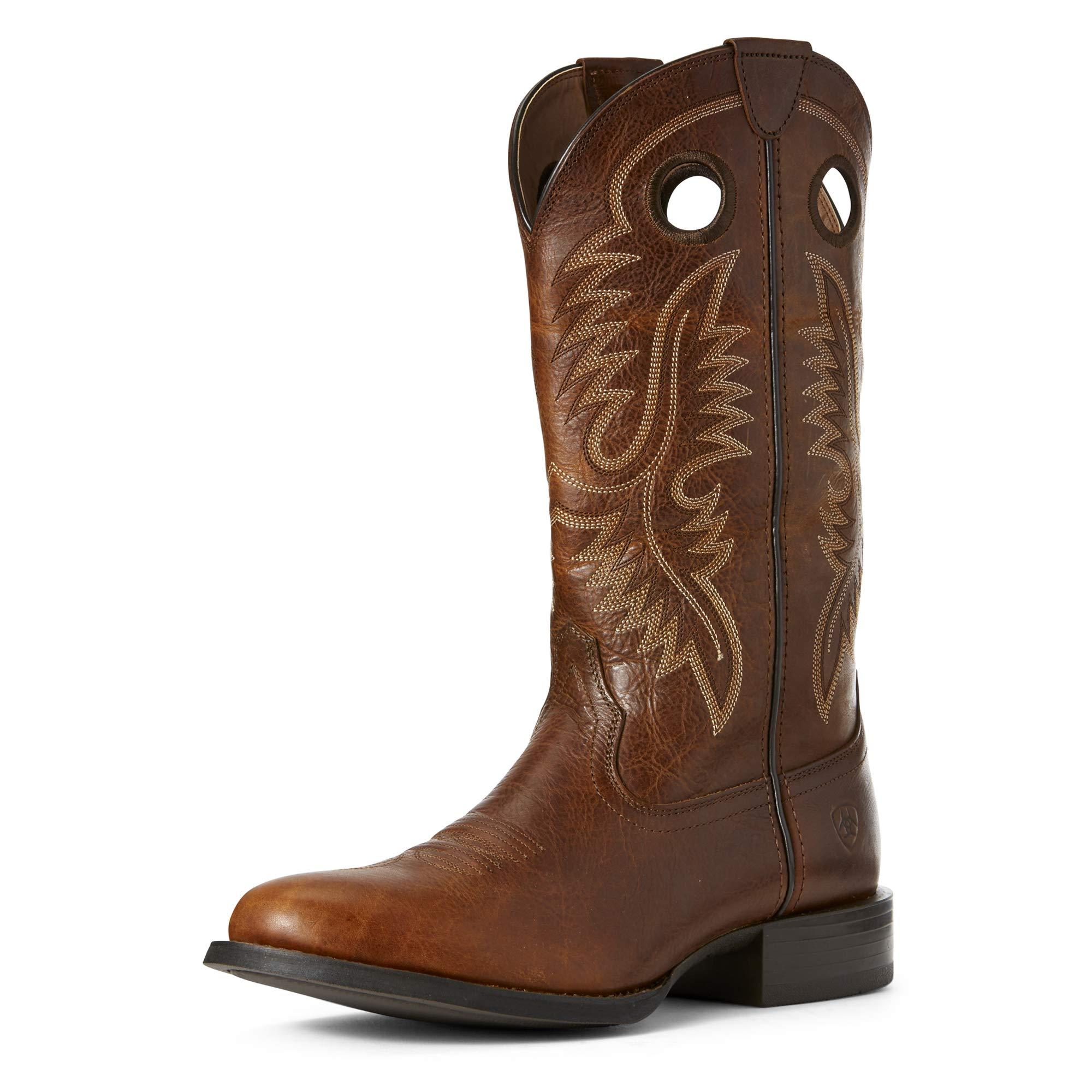 Ariat Men's Sport Big Hoss Western Boot, Brown Patina, 13D by ARIAT