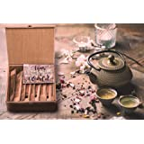 Jarved Organic Teas of The World Wooden Assorted Gift Box Set - 250 Cups   10 Varieties of Black, Green, Masala, Turkish, Herbal Tea  Unique Gift for Men, Women, Anniversary, Birthday, Office