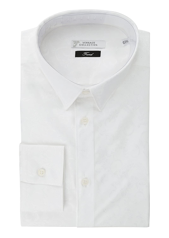 Amazon Versace Collection Mens White Paisley Design Cotton