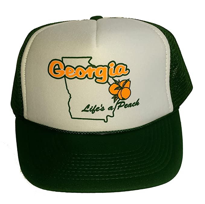 new style 70ff8 6aa62 Image Unavailable. Image not available for. Color  Georgia Life s a Peach Mesh  Trucker Hat ...