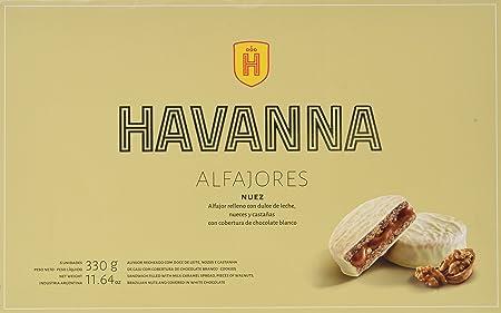 Surtido con 6 alfajores de nuez,País de origen: Argentina,Marca: Havanna,Mantener en un lugar fresco