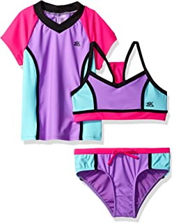 95640228bf Amazon.com: ZeroXposur Girls' Hula Haku Tankini Two Piece Swimsuit ...
