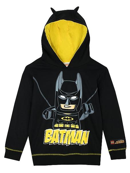 950f67050e1 Lego Batman Boys Batman Hoodie Ages 4 to 10 Years  Amazon.co.uk  Clothing