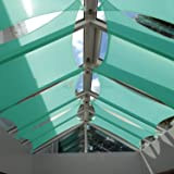 Sunshades Depot 12' x 12' Square Waterproof Knitted Shade Sail Curved Edge Turquoise Green 220 GSM UV Block Shade Fabric Pergola Carport Canopy Replacement Awning Customize Available
