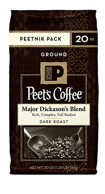 Peet's Coffee & Tea Ground, Major Dickason's Blend, 20 Ounce