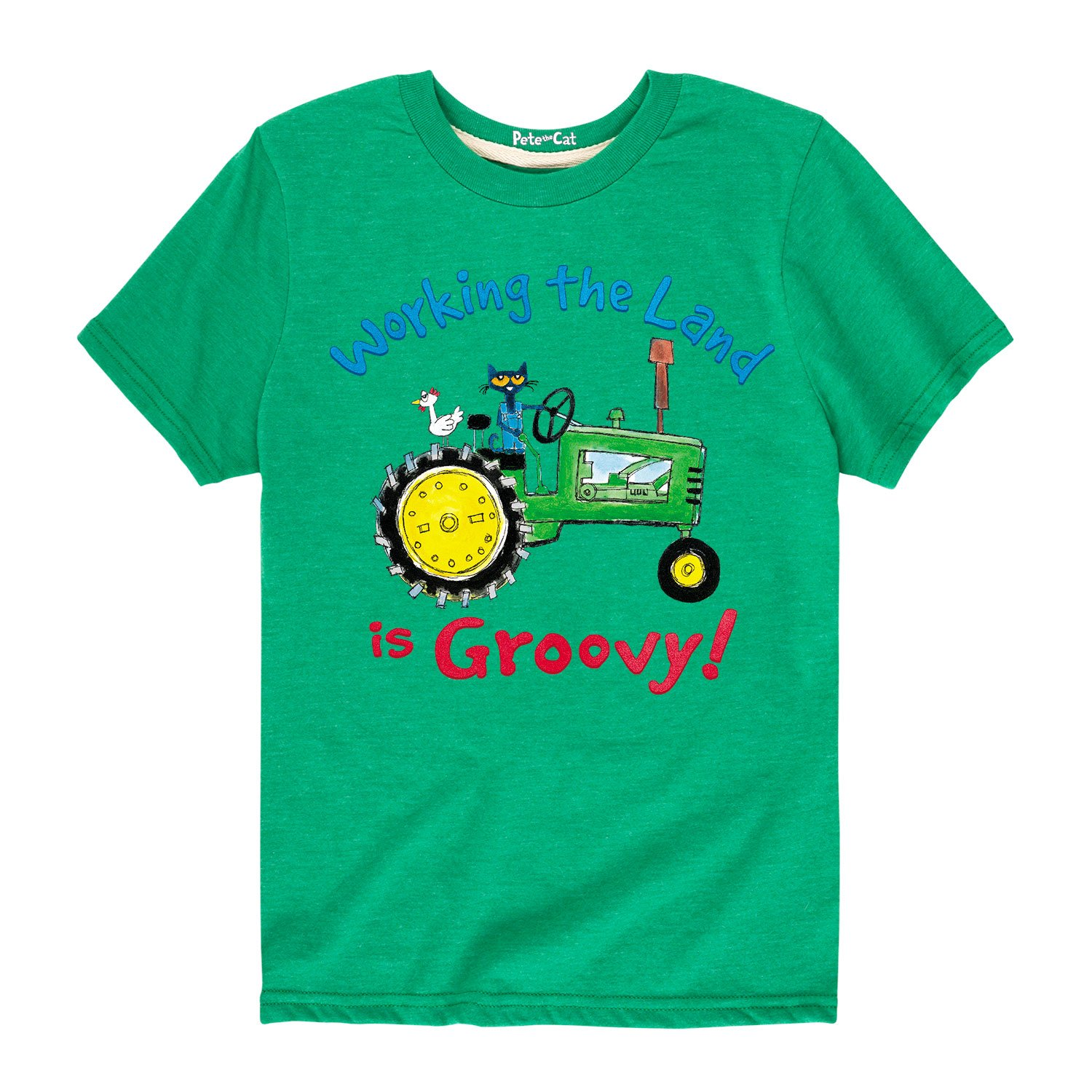 Toddler Short Sleeve Tee Pete the Cat Working The Land