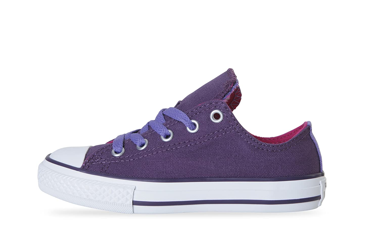 Converse Chuck Taylor 645240C Elderberry Double Tongue Low Trainers for Kids