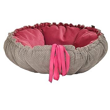 Cama para perros Perros Cojín perro Dormir Espacio Perros techo Daisy Diámetro 70 cm color Rosa Gris 05 - 01: Amazon.es: Productos para mascotas