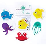 Curious Columbus Non-Slip Bathtub Stickers Pack of 10 Large Sea Creature Decal Treads. Best Adhesive Safety Anti-Slip…