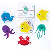 Curious Columbus Non-Slip Bathtub Stickers Pack of 10 Large Sea Creature Decal Treads. Best Adhesive Safety Anti-Slip Appliques for Bath Tub and Shower Surfaces