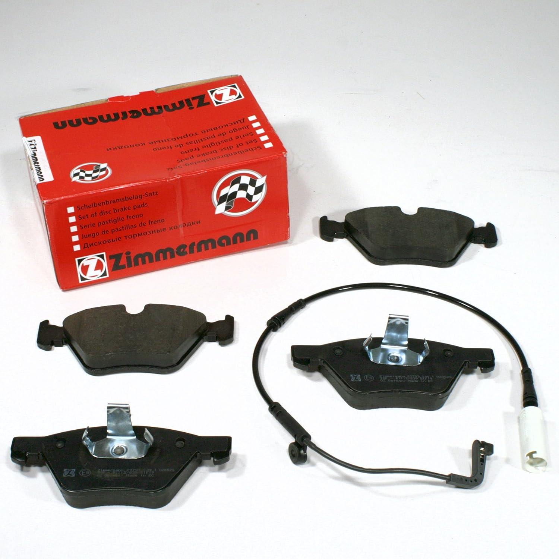 Zimmermann Bremsklö tze/Bremsen / Bremsbelä ge + Warnkabel fü r vorne/fü r die Vorderachse Autoparts-Online