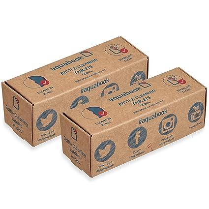 Pastillas de limpieza Aquabook® para botellas y termos, weiß, 16