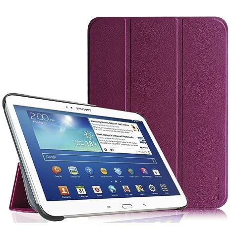Fintie SlimShell Funda para Samsung Galaxy Tab 3 10.1 - Súper Delgada y Ligera Carcasa con Función de Soporte y Auto-Reposo/Activación para Modelo ...