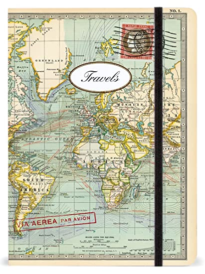 World map large lined notebook cavallini company amazon world map large lined notebook gumiabroncs Choice Image