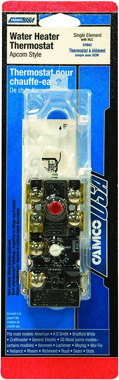 Camco 07843 Single Element Water Heater Thermostat With Hlc Renewed Amazon Com