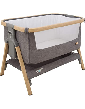 Tutti Bambini CoZee® Bedside Crib/Co-Sleeper with Breathable Mesh Window, Travel Bag and Easy Fold (Oak and Charcoal)