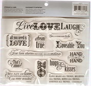 Cloud 9 Design 12 Rubber Cling Stamps Love Phrase 66053 Amazonco