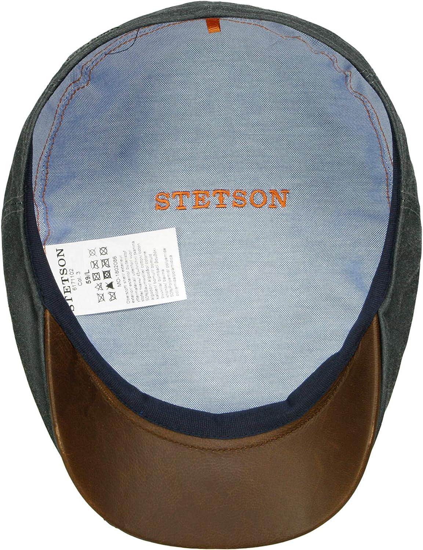 Futter Futter Made in Germany mit Schirm Stetson Waxed Cotton Flatcap Baumwollcap Schirmm/ütze Schieberm/ütze Sommercap Herren