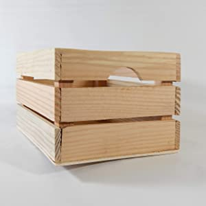 At Home on Main Handcrafted Rustic Crates - Small (Natural)