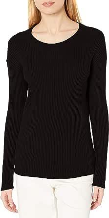 Amazon Brand - Daily Ritual Women's Ultra-Soft Rib Knit Sweater