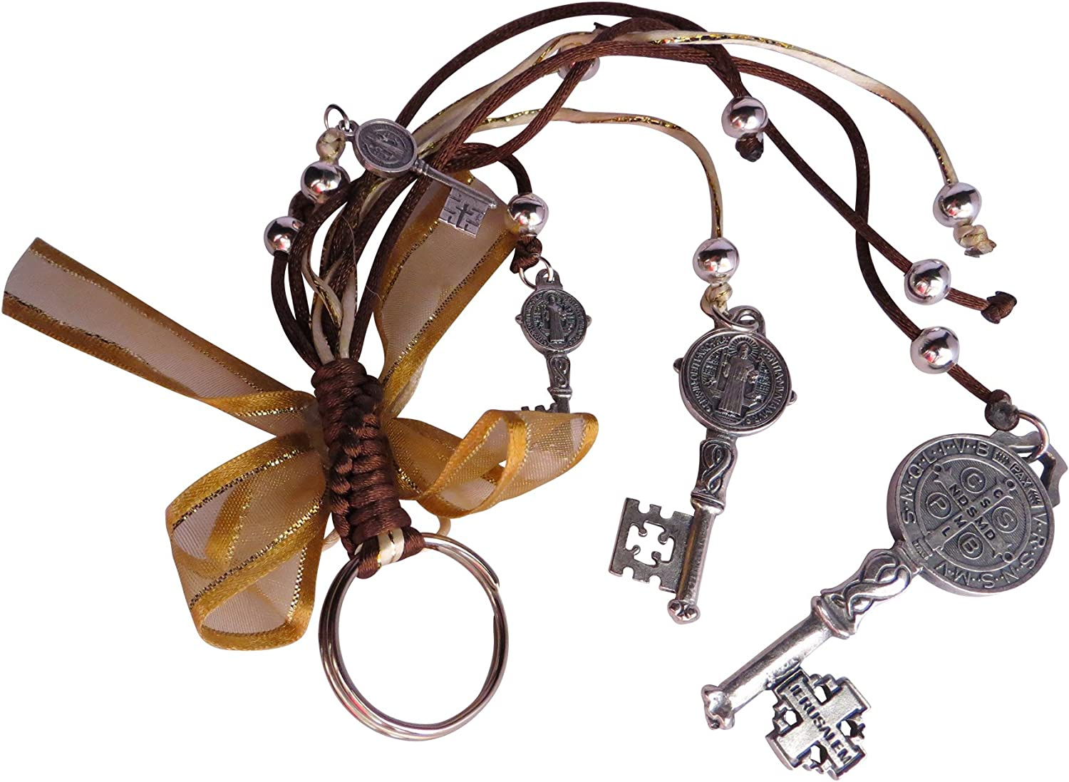 Angelitos de Mexico Saint Benedict Keys Blessing Protection for Home, Car or Purse