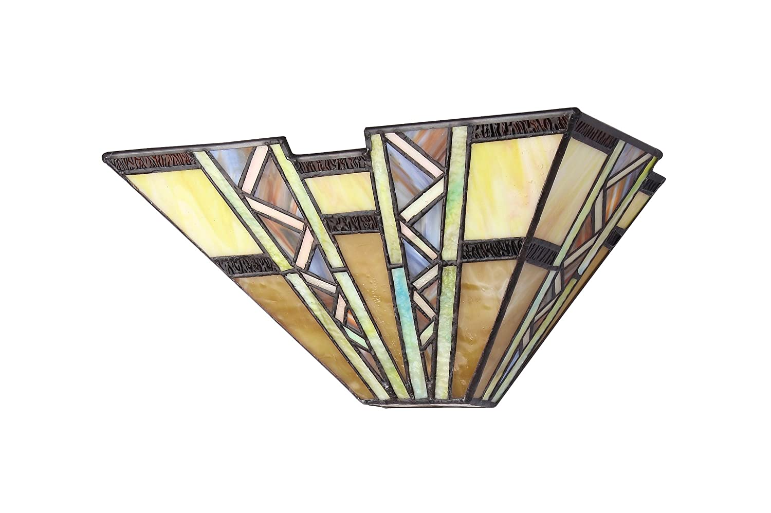 Chloe lighting ch33226mi12 ws1 tiffany style mission 1 light wall chloe lighting ch33226mi12 ws1 tiffany style mission 1 light wall sconce 12 inch wide multi colored tiffany style wall sconce amazon amipublicfo Image collections