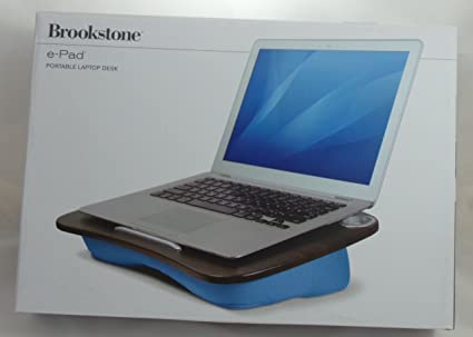 Brookstone E Pad Portable Laptop Desk Blue