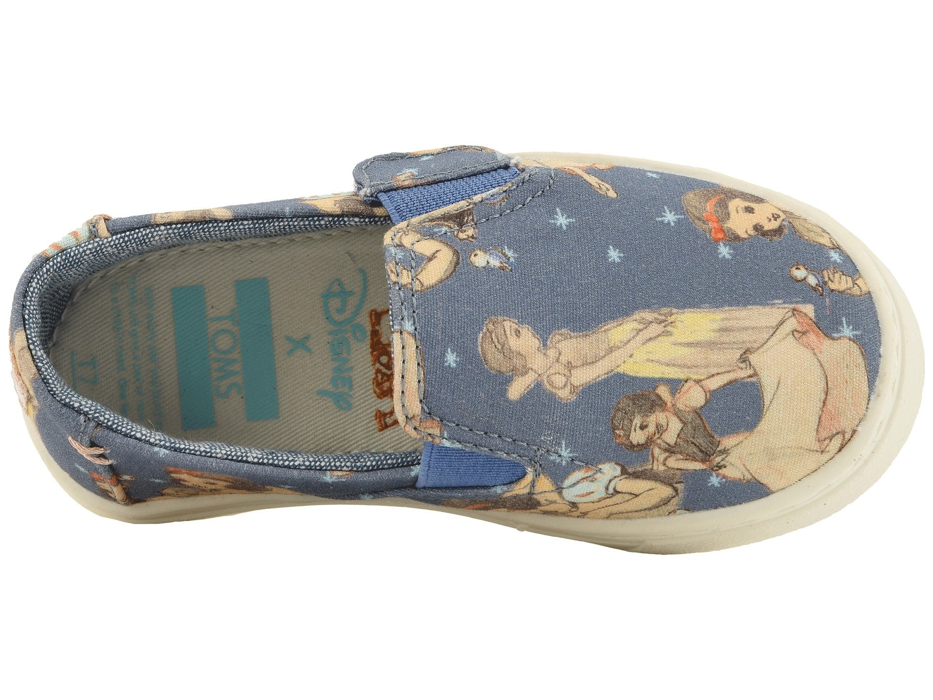 TOMS Girl's, Luca Slip on Shoes Blue 4 M by TOMS Kids (Image #9)