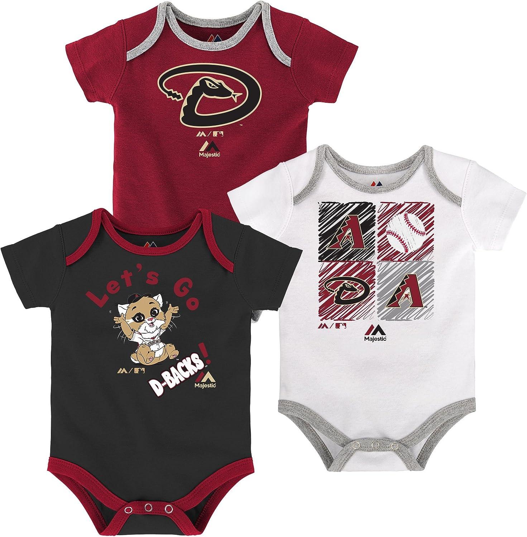 Outerstuff Arizona Diamondbacks Baby//Infant Three Strikes 3 Piece Creeper Set