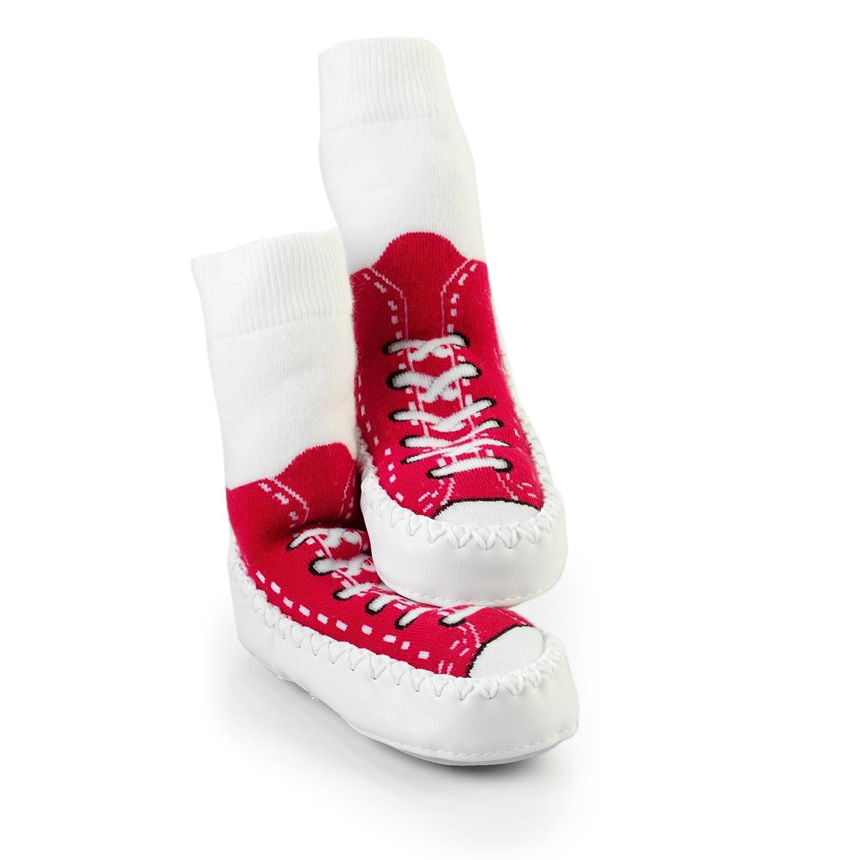 SOCK ONS Mocc Ons Sneakers Calcetines Andar por Casa (rojo) (18-24 meses): Amazon.es: Bebé