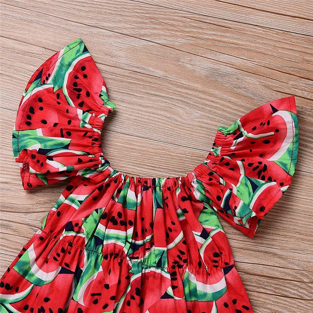 Sommer 0-24 Monate Baby M/ädchen Strampler Wassermelone Spielanzug Blumen Stirnband Kleidung Kinder
