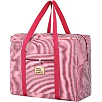 Promover Foldable Travel Bag Waterproof Travel Duffel Bag Large Capacity Carry on Bag(Red Stripe)