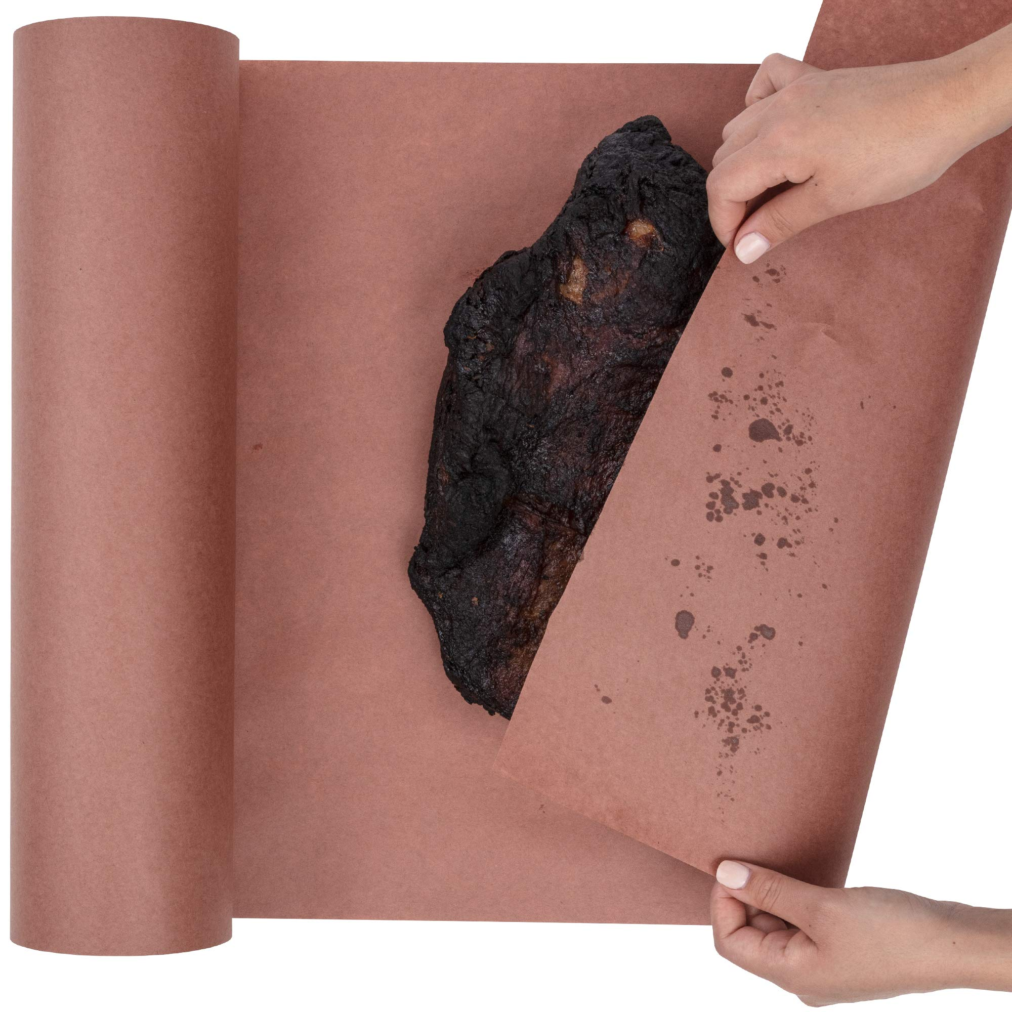 Butcher Paper Roll USA Made, Fda Approved, for BBQ and Meat Smoking. Natural Unbleached Paper by DIY Crew (Pink, 24''x200')