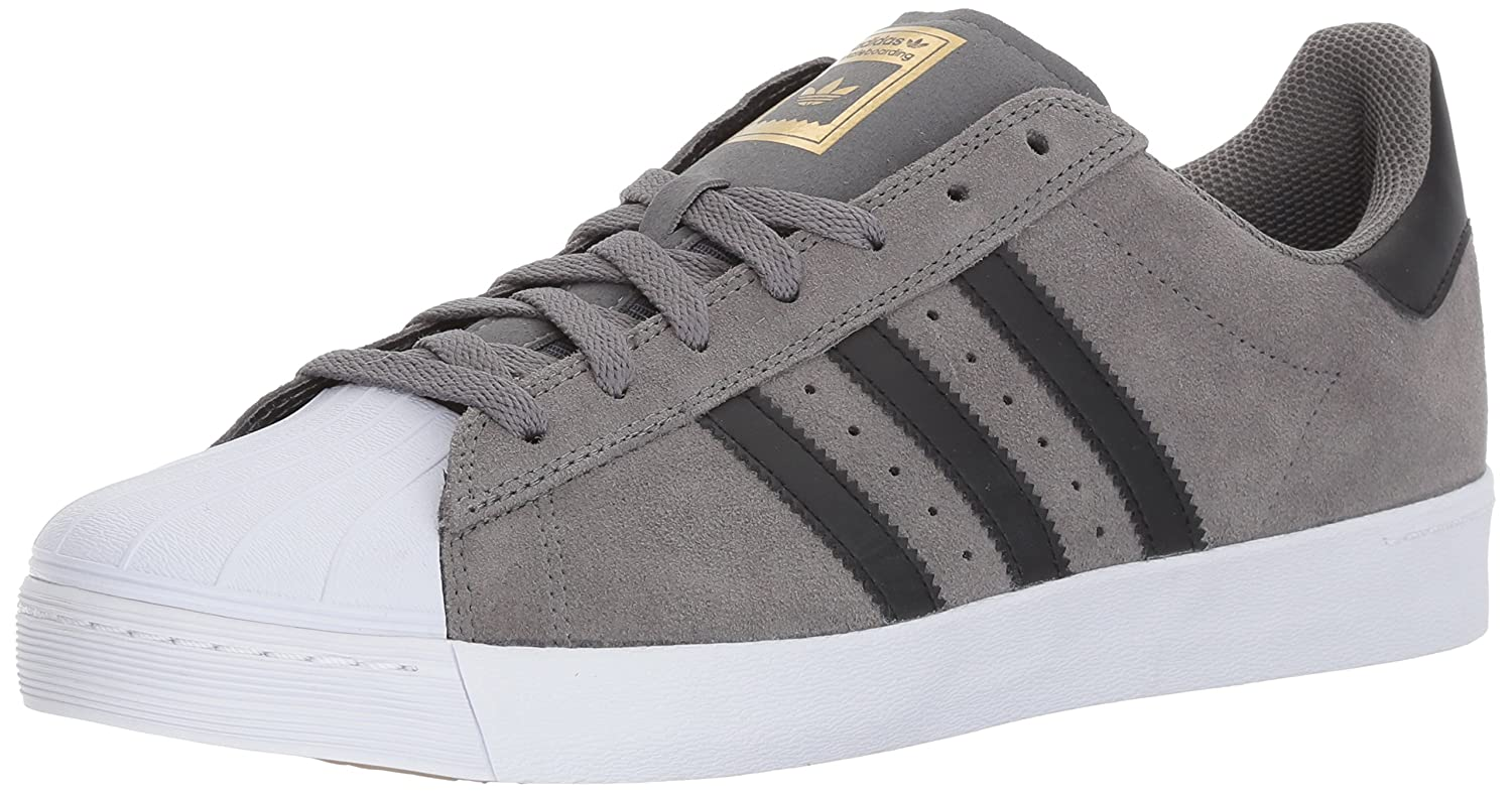 adidas Originals Men's Superstar Vulc Adv Shoes B01NAH280L 6.5 M US|Grey Four/Core Black/Gold Metallic