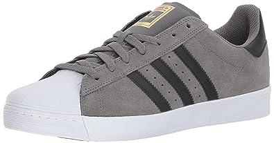 Adidas Men's Superstar Vulc Adv Grefoou/Cblack/Goldmt Skate Shoe 12 Men US