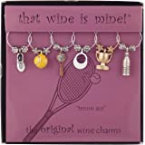 Supreme Housewares WT-1444P Tennis Ace, Painted Wine Charms, Multi-Colored
